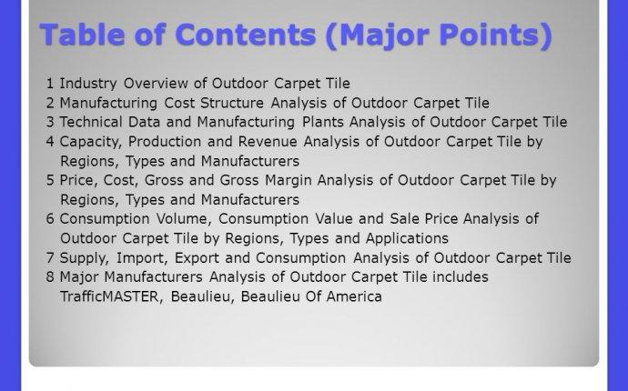 Carpet Industry Overview - Carpet Vidalondon