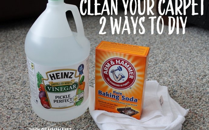 Vinegar and water to clean Carpet stains